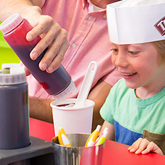 Make your own ice cream in our Taste Lab